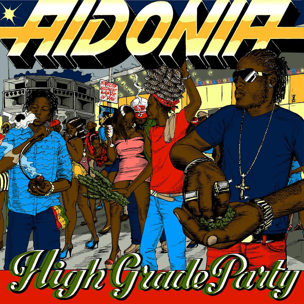 Aidonia-High-Grade-Party-Tiger-sharks-Records-cover-artwork
