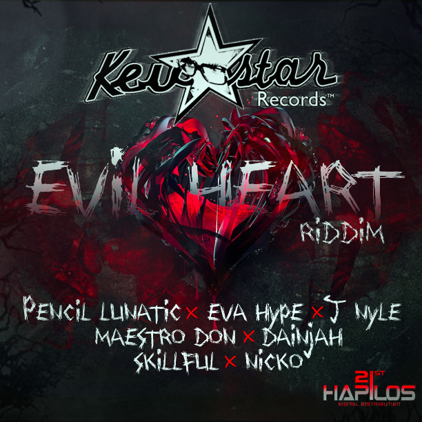 Evil-Heart-Riddim-–-Kevstar-Records-Cover