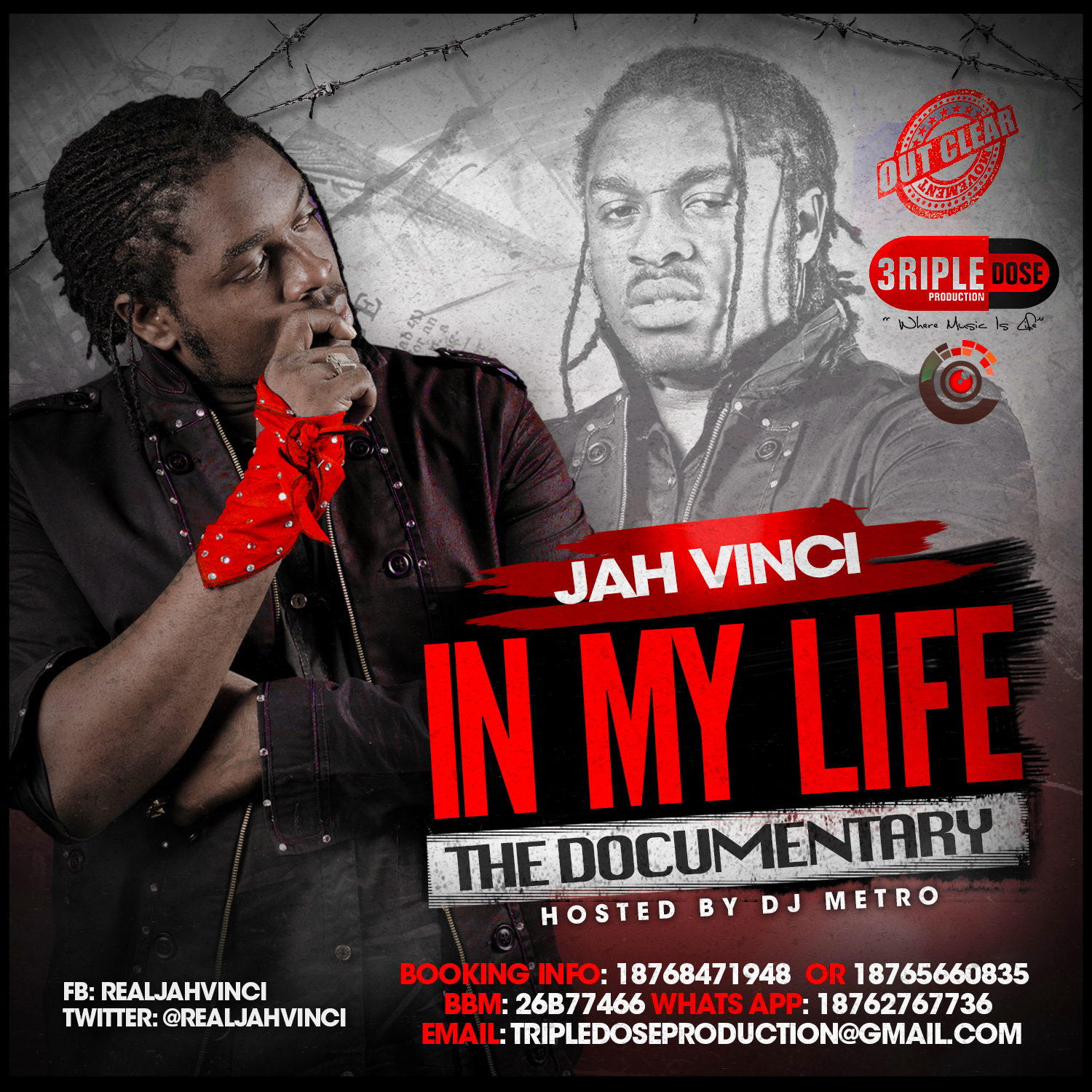 JAH VINCI – IN MY LIFE (THE DOCUMENTARY MIXTAPE) HOSTED BY DJ METRO
