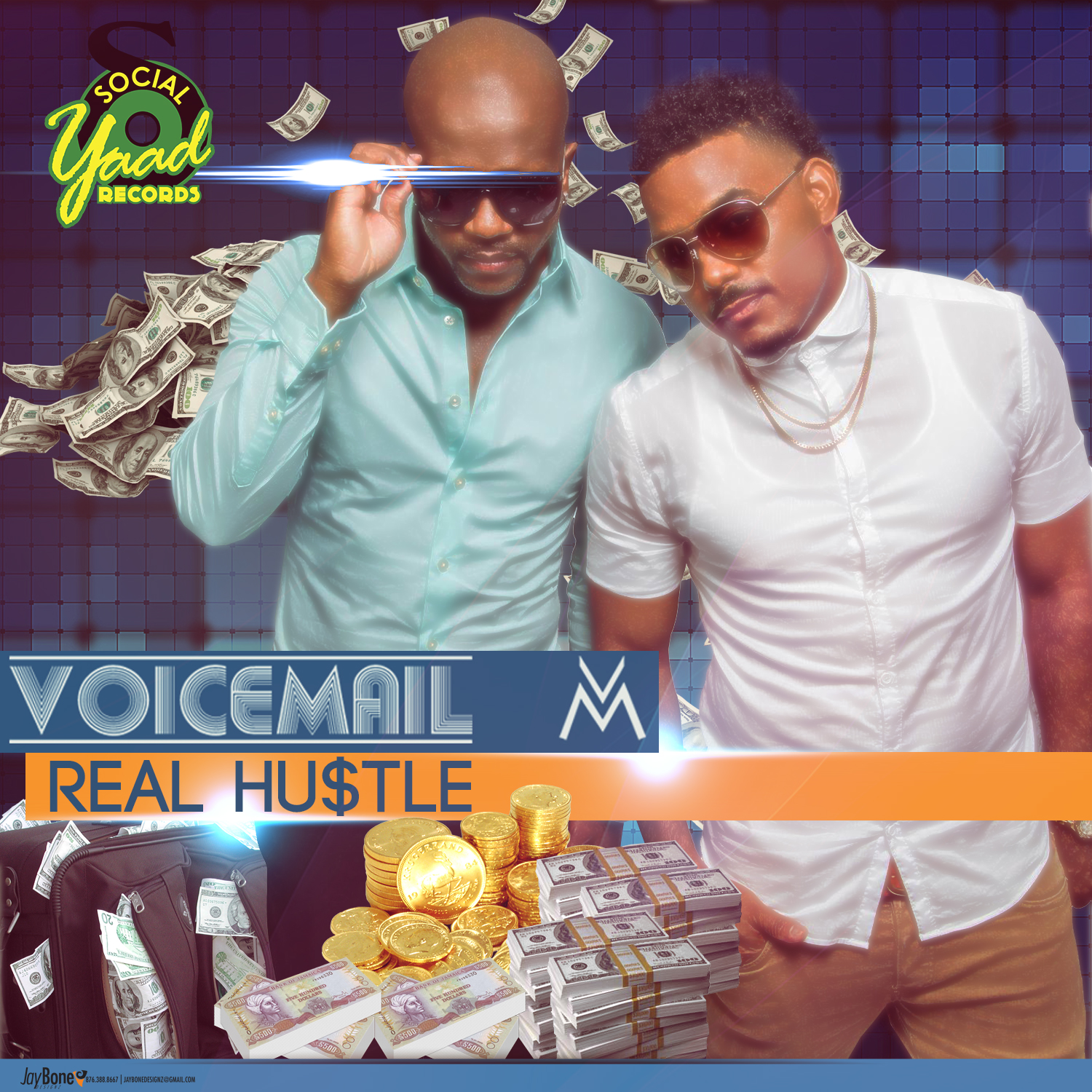 VOICEMAIL – REAL HUSTLE – (MAIN MIX, TV MIX & INSTRUMENTAL) – SOCIALYAAD RECORDS