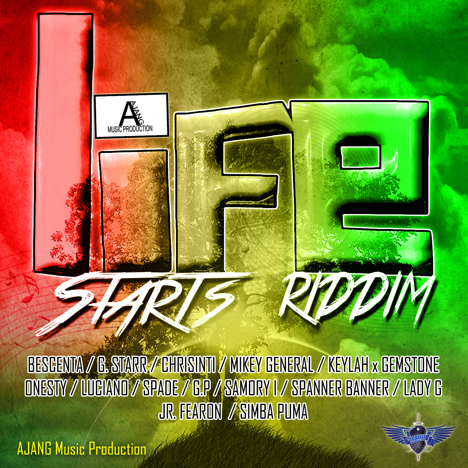 Life-Starts-Riddim-Ajang-music-artwork