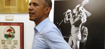 PRESIDENT BARACK OBAMA VISITS BOB MARLEY MUSEUM