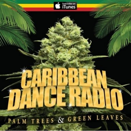 Caribbean-Dance-Radio-Palm-trees-Green-Leaves-Cover