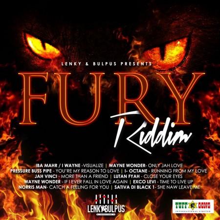 FURY-RIDDIM-COVER FURY RIDDIM [FULL PROMO] - LENKEY & BULPUS PRODUCTIONS